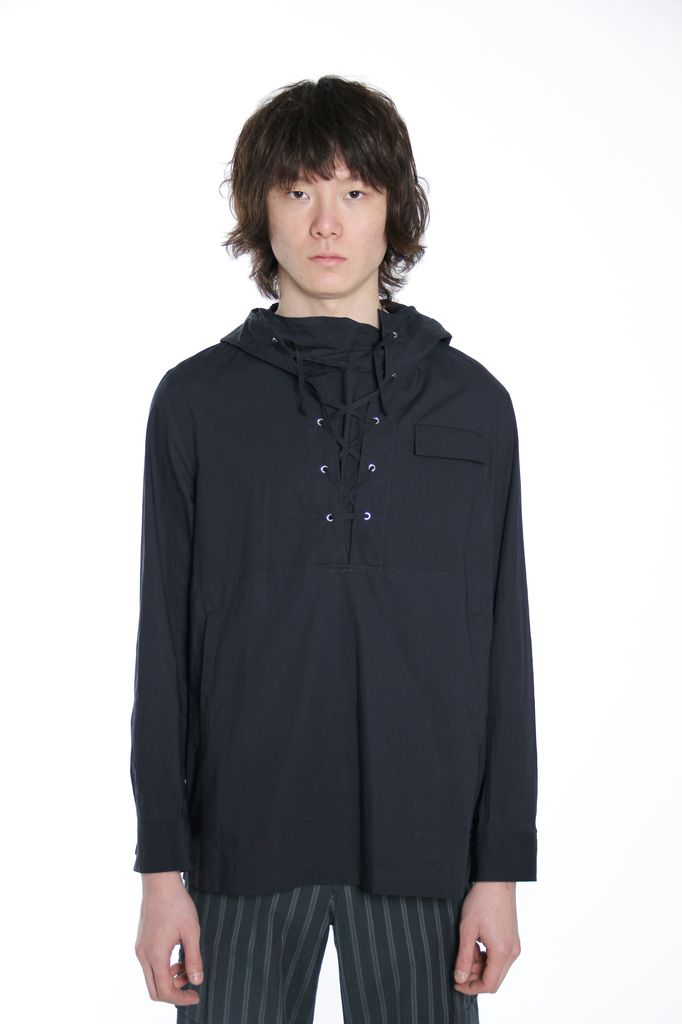 UNDERCOVER UNDERCOVER MEN LACED FRONT ANORAK