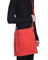 MA+ MA+SMALL PATCHWORK DOUBLE MESSENGER HIGH RISK COW LEATHER