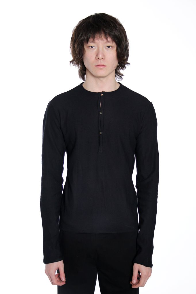MA+ MA+ MEN KNITTED HENLY PULLOVER