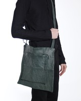 MA+ MA+ SMALL PATCHWORK DOUBLE MESSENGER SCARAB PG LEATHER