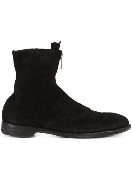 GUIDI GUIDI MEN HORSE REVERSE LEATHER FRONT ZIP ARMY BOOT