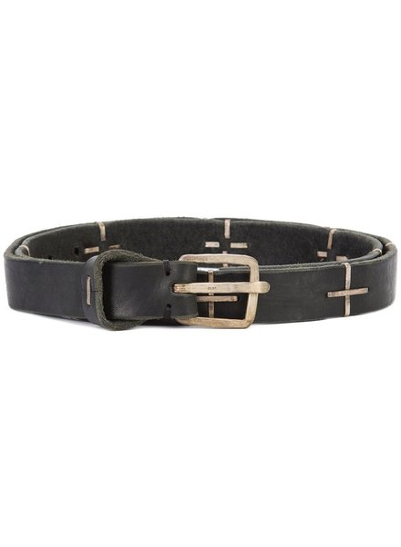 """MA+ MA+ """"+"""" SPOTTED Q BUCKLE MED BELT"""