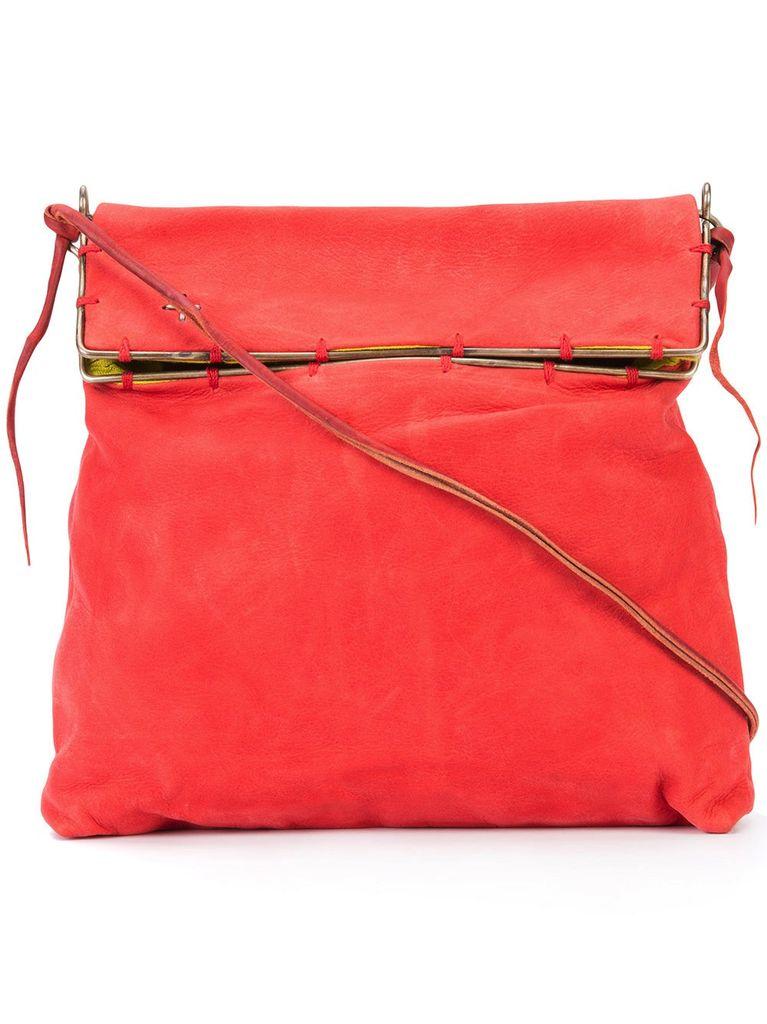 MA+ MA+ SMALL SILVER RIM MESSENGER BAG RED