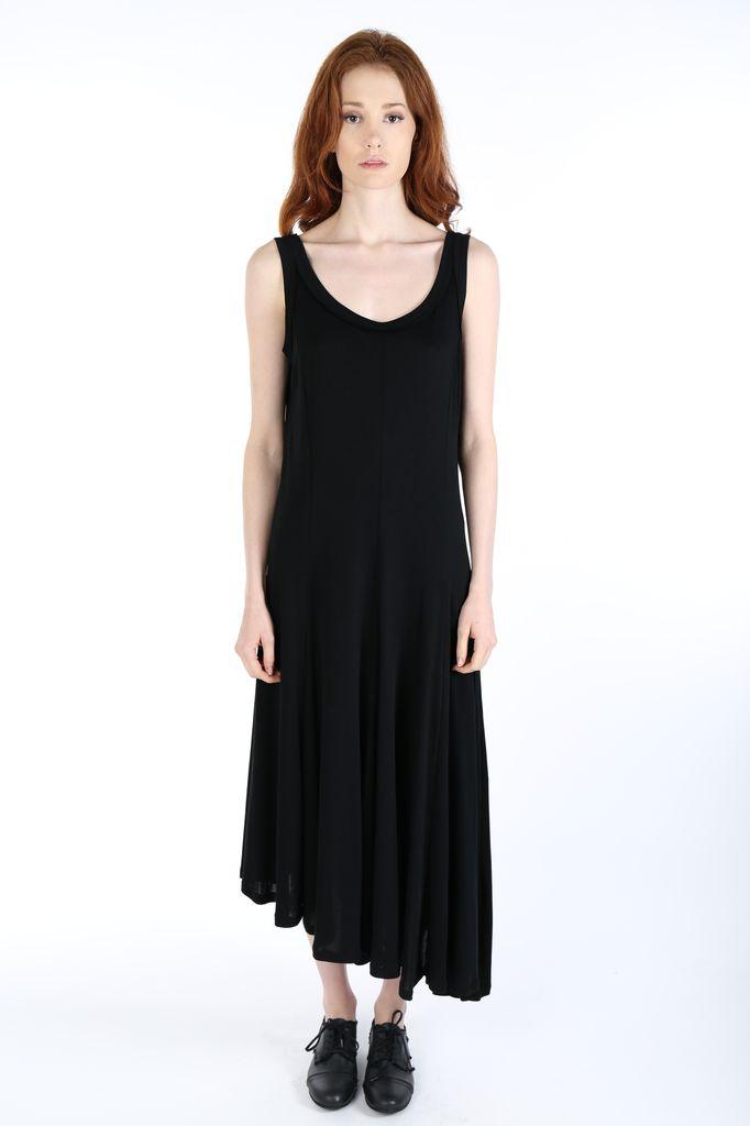 YOHJI YAMAMOTO YOHJI YAMAMOTO WOMEN EIGHT PANEL FLARE DRESS