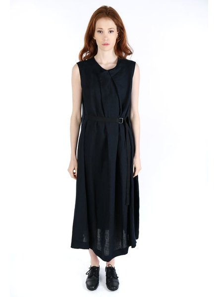 Y'S Y'S WOMEN PLEATED LONG DRESS