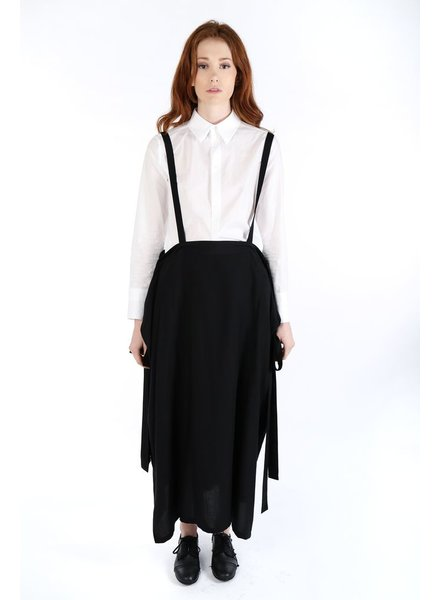 Y'S Y'S WOMEN LAYERED SKIRT WITH SUSPENDER