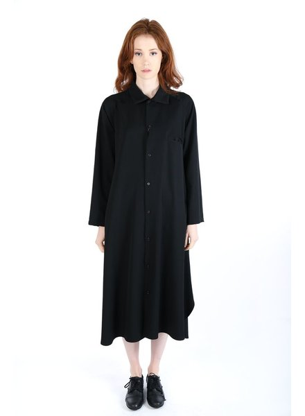 Y'S Y'S WOMEN LONG SHIRT DRESS