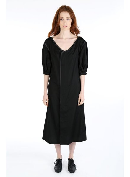Y'S Y'S WOMEN GATHERED DRESS