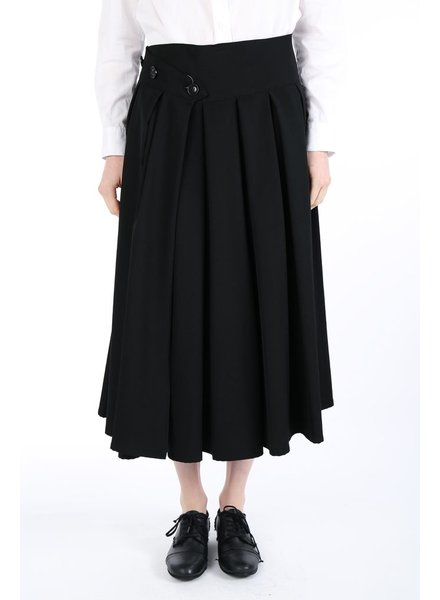 Y'S Y'S PLEASTS WRAP SKIRT