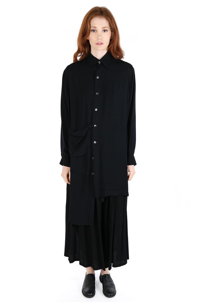 NOCTURNE #22 NOCTURNE #22 WOMEN ASYMMETRIC LONG SHIRT