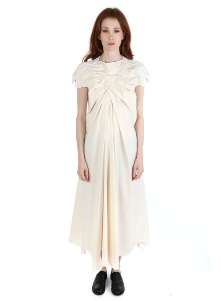 AGANOVICH AGANOVICH WOMEN GATHERED FRONT DRESS