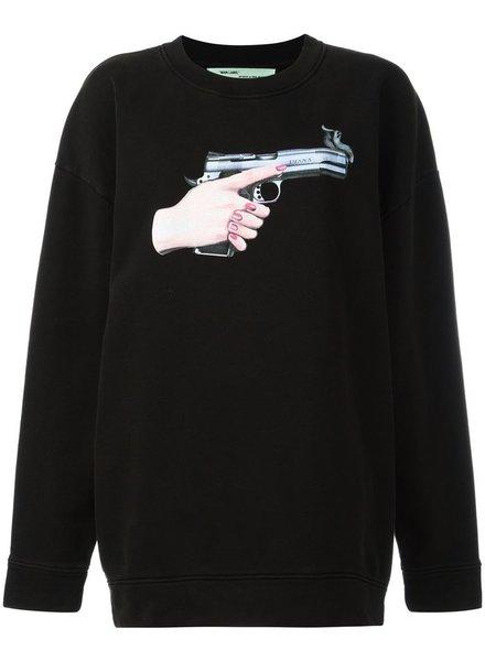OFF-WHITE OFF-WHITE DIAG GUN OVER CREWNECK