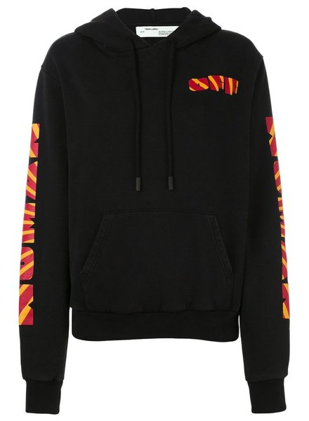 OFF-WHITE OFF-WHITE RAYS OVER HOODIE BLACK