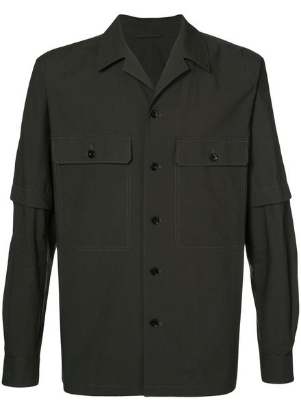 LEMAIRE LEMAIRE MEN DETACHABLE SLEEVE OVERSHIRT