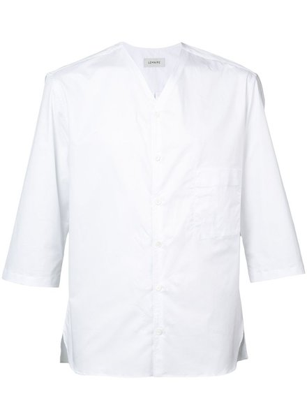 LEMAIRE LEMAIRE MEN SHORT SLEEVE V-NECK SHIRT