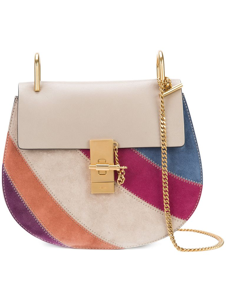 CHLOE DREW PATCHED SHOULDER SMALL CHAIN BAG