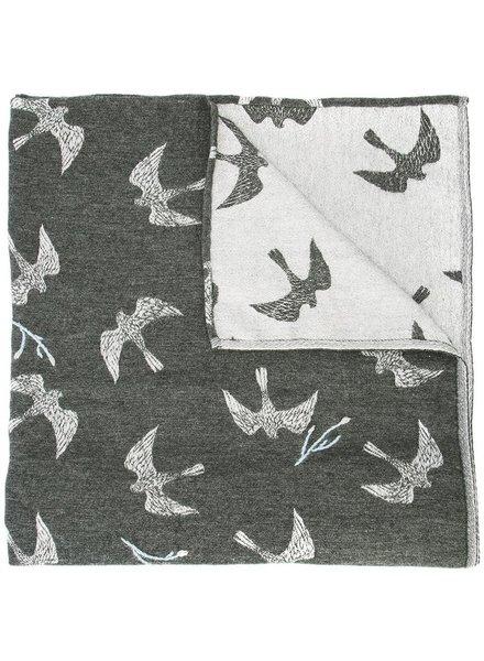 RENLI SU RENLI SU WOMEN BIRD JACQUARD SCARF