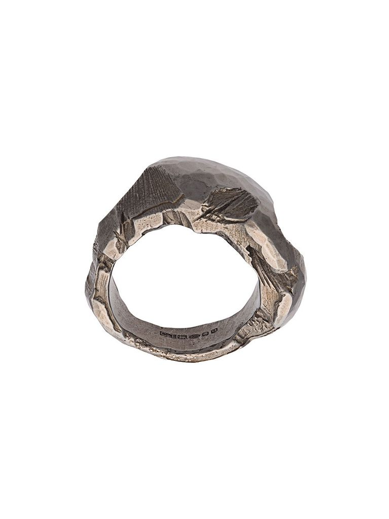 CHIN TEO CHIN TEO MYSTERY BLACK RHODIUM RING