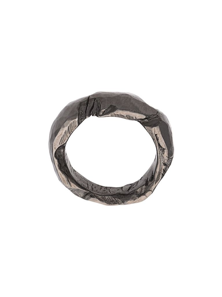 CHIN TEO CHIN TEO 069P LOVE BLACK RHODIUM RING