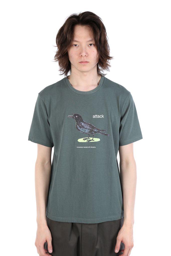 UNDERCOVER UNDERCOVER MEN BIRD PRINT T-SHIRT