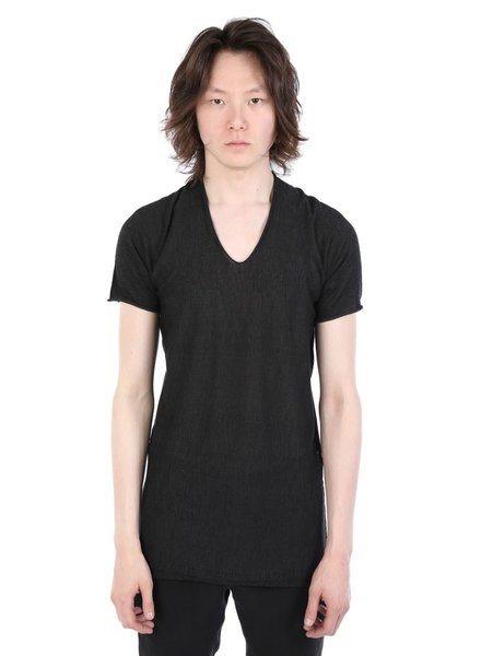 LABEL UNDER CONSTRUCTION LABEL UNDER CONSTRUCTION MEN PIXEL ARCHED LONG T-SHIRT