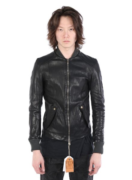 GUIDI GUIDI X LAYER-0 MEN BOMBER LEATHER JACKET
