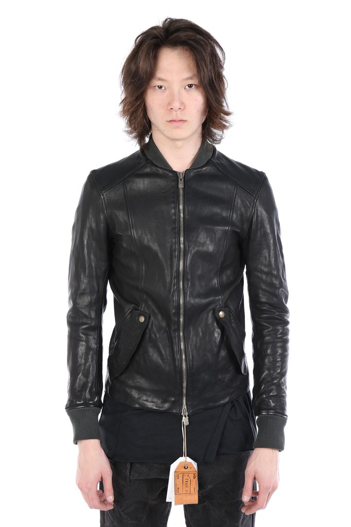 GUIDI GUIDI X LAYER-0 MEN BOMBER BBM LEATHER JACKET