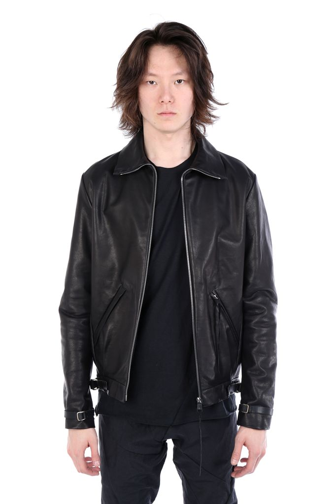 MA+ MA+ MEN LEATHER BOMBER JACKET