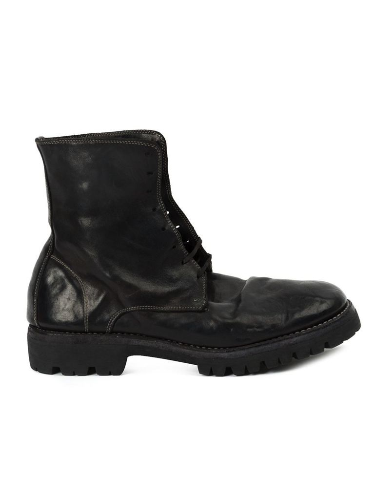 GUIDI GUIDI LACED UP BOOT WITH VIBRAM SOLE
