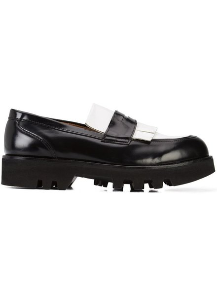 AMI ALEXANDRE MATTIUSSI AMI MEN TWO-TONE LOAFERS, VIBRAM S