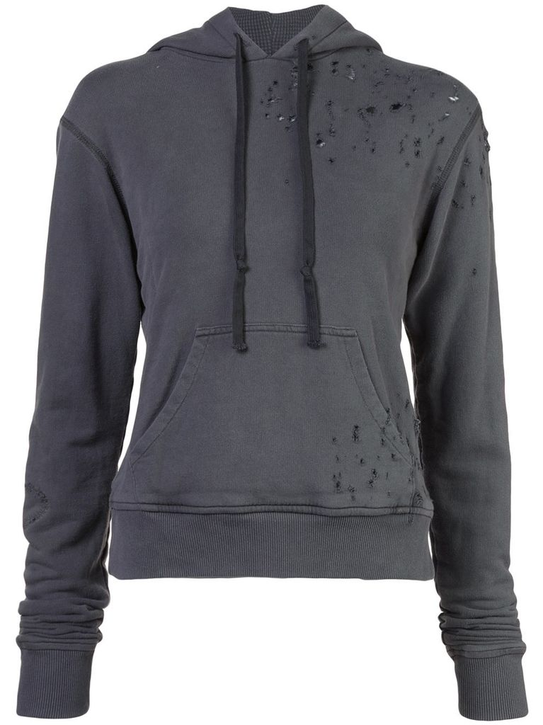 GREG LAUREN GREG LAUREN WOMEN DESTROYED HERO HOODIE