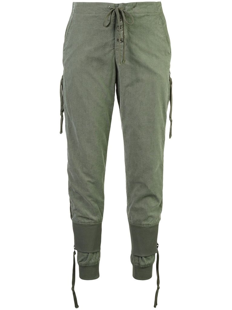 GREG LAUREN GREG LAUREN WOMEN ARMY TENT ZIPPER LOUNGE PANTS