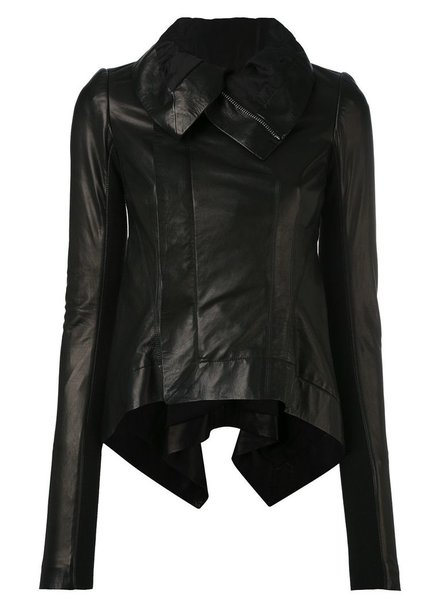 RICK OWENS RICK OWENS WOMEN LAMB LEATHER NASKA BIKER