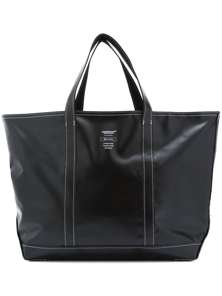 UNDERCOVER UNDERCOVER SLOGAN TOTE BAG