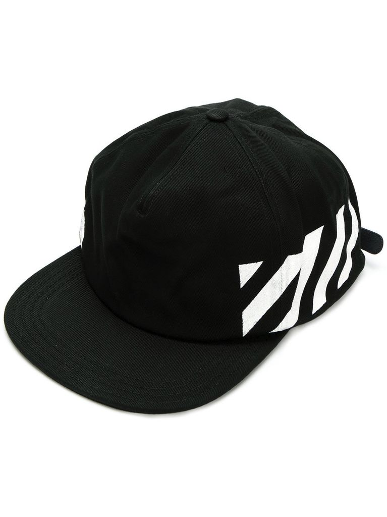 OFF-WHITE OFF WHITE MEN DIAG BRUSHED CAP
