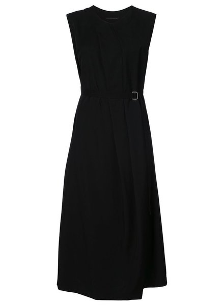 Y'S Y'S WOMEN N-F PLEATS LONG DRESS