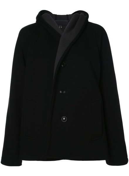 Y'S Y'S WOMEN U-HOOD SHORT COAT