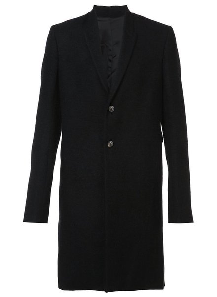 RICK OWENS RICK OWENS MEN 2 BUTTON PHARMACY COAT