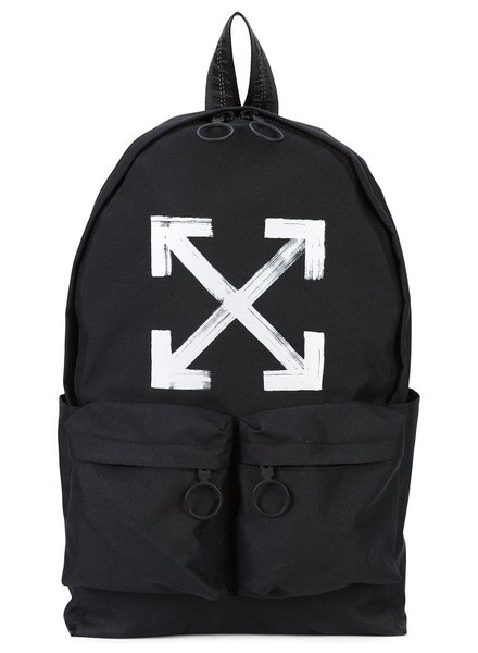 OFF-WHITE OFF WHITE MEN BRUSHED BACKPACK