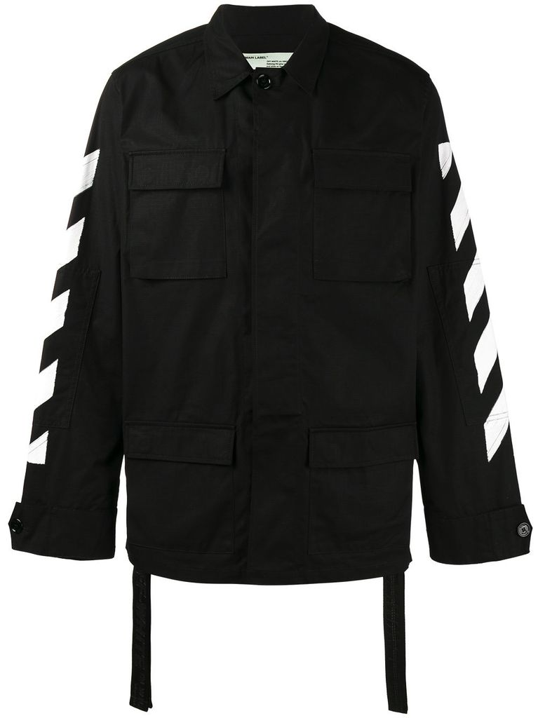 OFF-WHITE OFF WHITE MEN DIAG BRUSHED FIELD JACKET