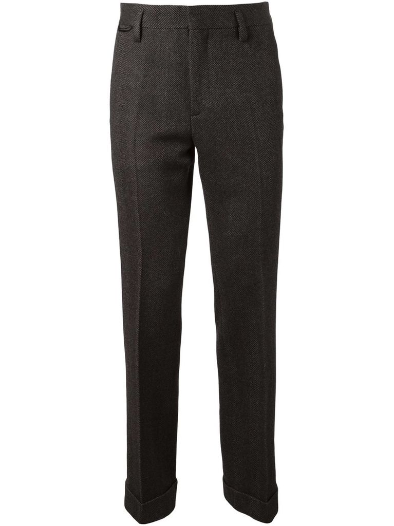 MARC JACOBS MEN HERRINGBONE TWEED PANTS