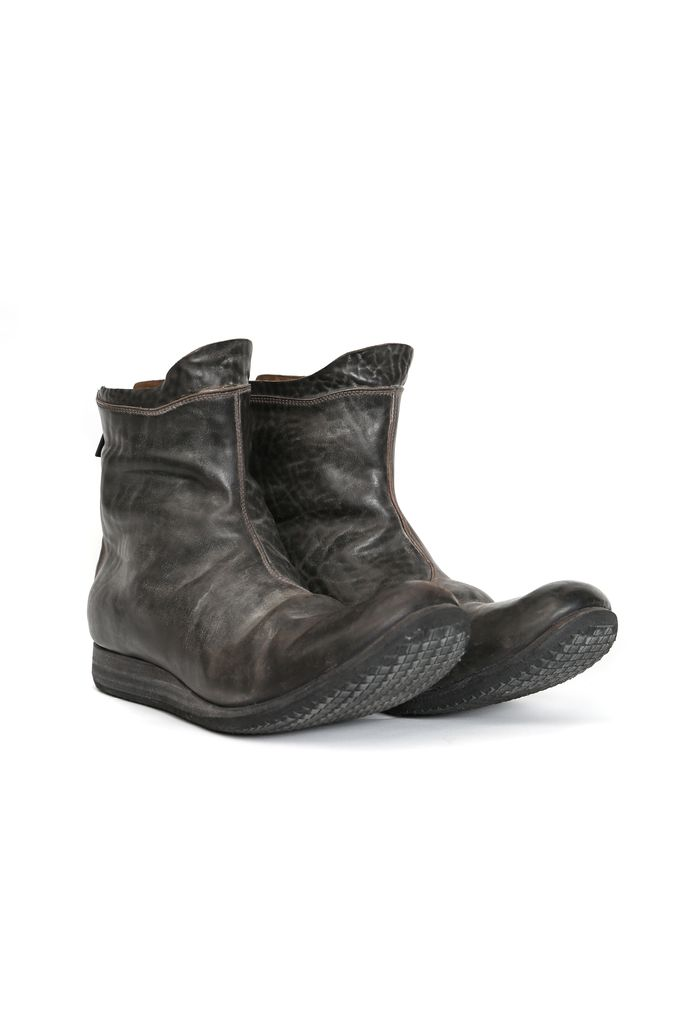 LAYER-0 LAYER-0 MEN CORDORVAN WEDGE HEEL BACK ZIP BOOT