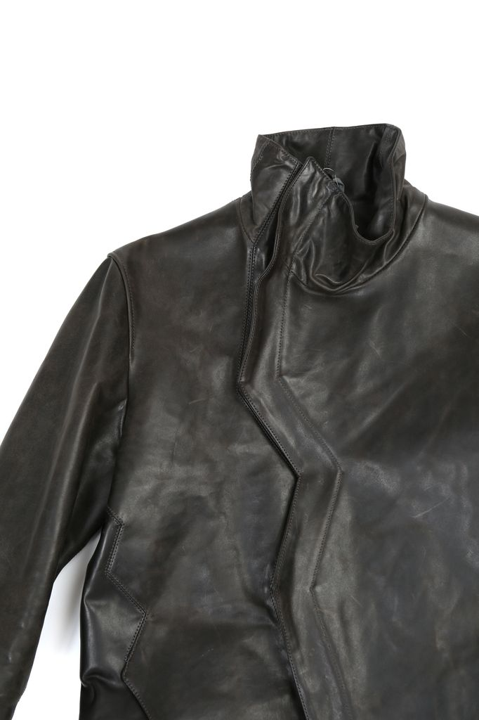 DEEPTI DEEPTI CLOSED CRASH SEAM LEATHER JACKET