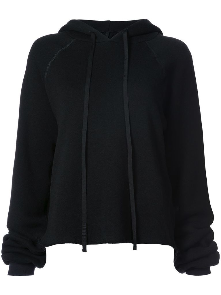 UNRAVEL WOMEN CASHMERE CROPPED HOODIE