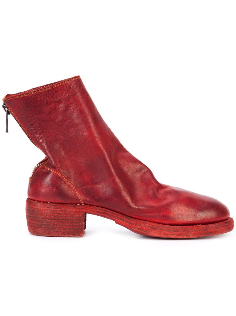 rear zip boots - Red Guidi