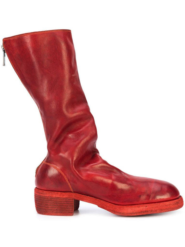 rear zip boots - Red Guidi Buy Cheap Best Place Big Sale Cheap Price Discount 2018 Sale Footlocker Finishline Official Site Cheap Online dgiWz2LP