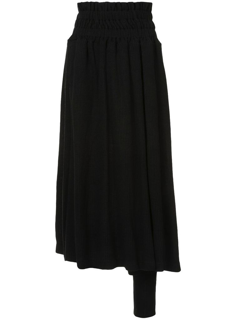 NOCTURNE #22 WOMEN ASYMMETRIC FLARED PANTS