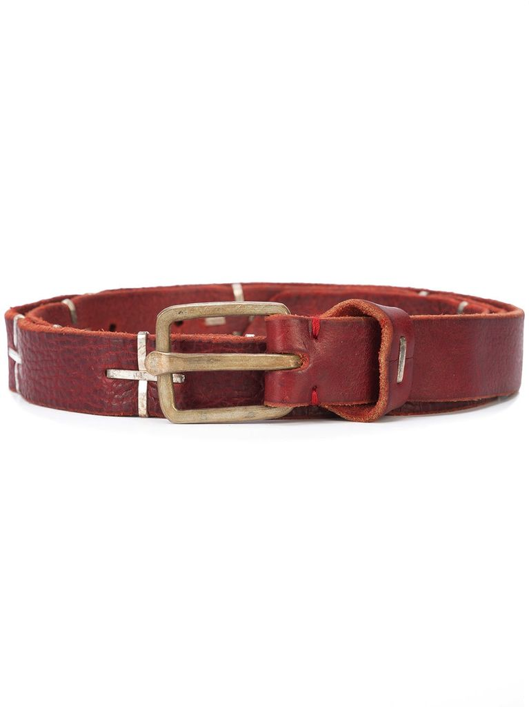 "MA+ MA+ ""+"" SPOTTED Q BUCKLE MED BELT"