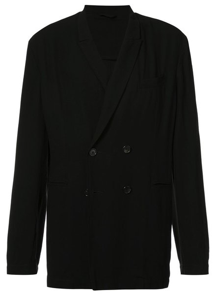 ANN DEMEULEMEESTER ANN DEMEULEMEESTER MEN WOOL VISCOSE DOUBLE BREASTED JACKET