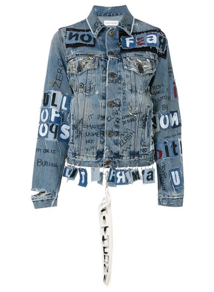FAITH CONNEXION FAITH CONNEXION WOMEN PATCHWORK DENIM JACKET